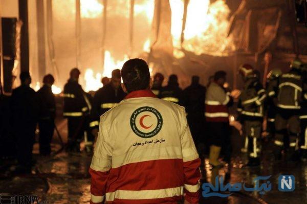 آتش سوزی در کارخانه