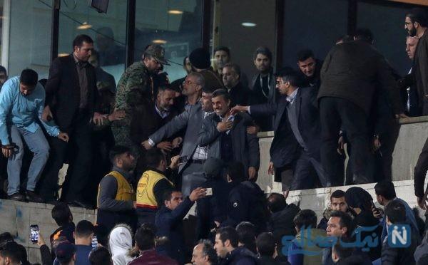 احمدی نژاد در ورزشگاه آزادی
