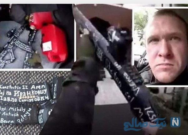 روی اسلحه تروریست نیوزیلندی چه نوشته بود؟