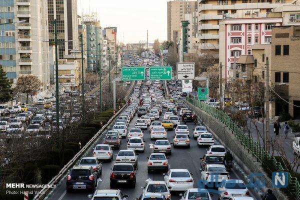 ترافیک سنگین تهران