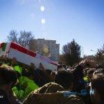 تصاویری از تشییع جان باختگان حادثه سقوط بالگرد اورژانس