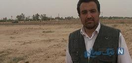 اقدام عجیب حسینی بای گزارشگر تلویزیون در منطقه سیل زده
