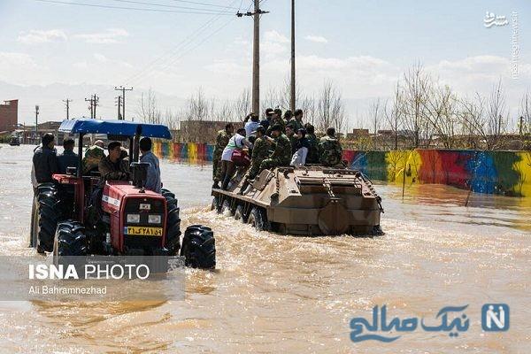 تصاویری از دوازدهمین روز سیل استان گلستان