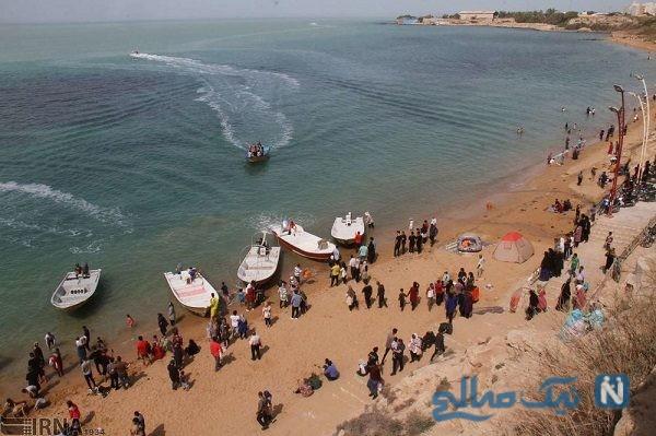 تصاویری از حال و هوای سواحل بوشهر در ایام نوروز