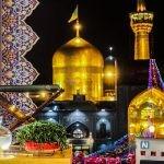 تصاویری از شب سال نو در حرم مطهر امام رضا (ع)