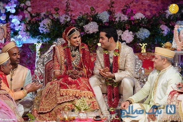 تصاویری از مراسم عروسی فرزند ثروتمندترین مرد آسیا