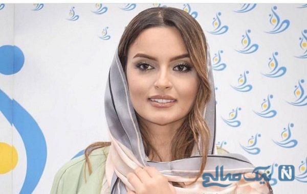 عکس عجیب خانم بازیگر ایرانی در آغوش پدرش