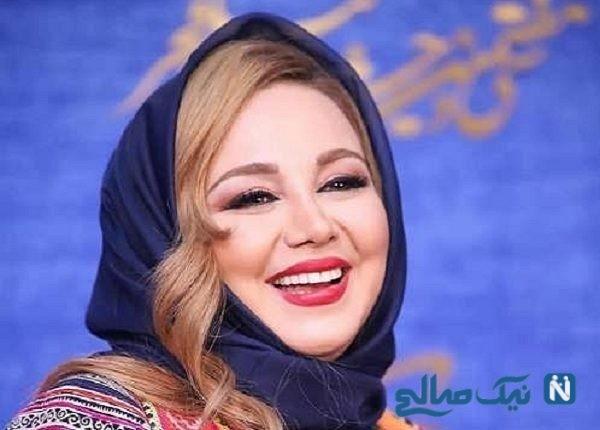 عکس خانم بازیگر مشهور در حال خرید چادر نماز عید
