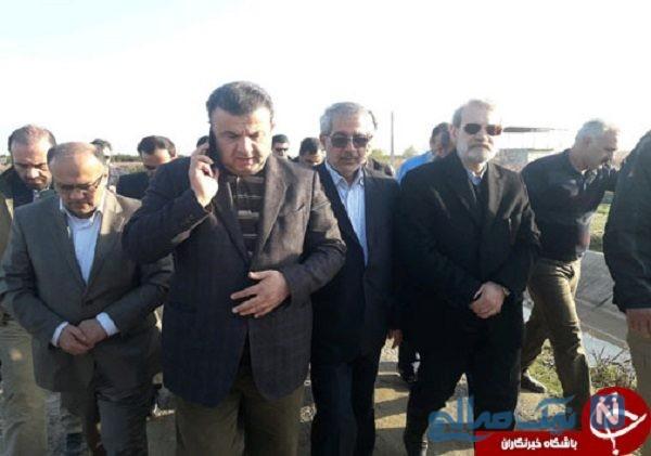 بازدید علی لاریجانی از مناطق سیل زده مازندران