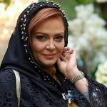 بهاره رهنما بازیگر سینما با لباس عجیب و رنگی