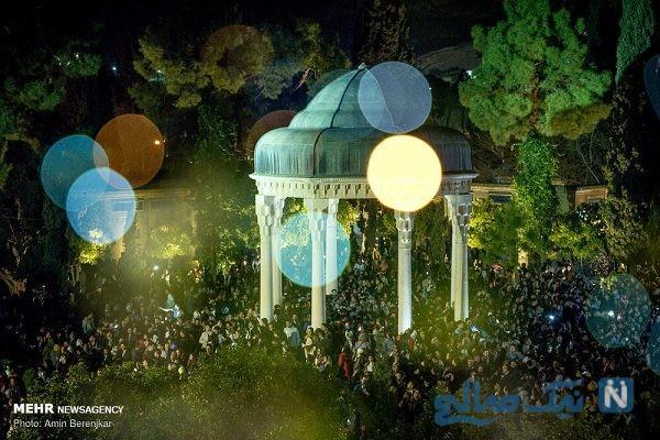 مراسم تحویل سال نو در حافظیه شیراز