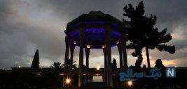 تصاویری زیبا از آرامگاه حافظ در آستانه ایام نوروز
