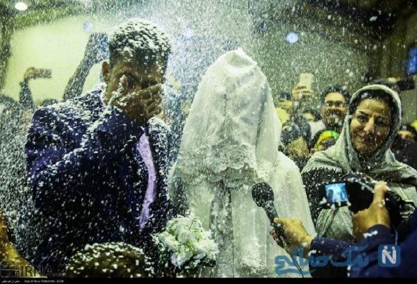 تصاویری از مراسم عروسی سیل زدگان آق قلا