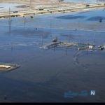 تصاویر هوایی از وضعیت سیل خوزستان