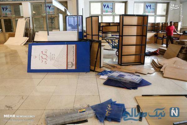 آماده سازی نمایشگاه کتاب