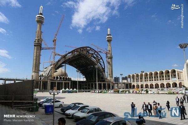 تصاویری از آماده سازی نمایشگاه کتاب تهران