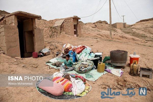 اسکان سیل زدگان در تپه های حمیدیه + تصاویر