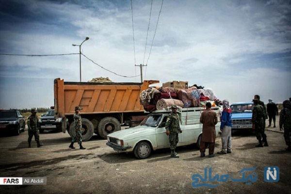 تصاویری از امدادرسانی به سیل زدگان روستای هیرمند