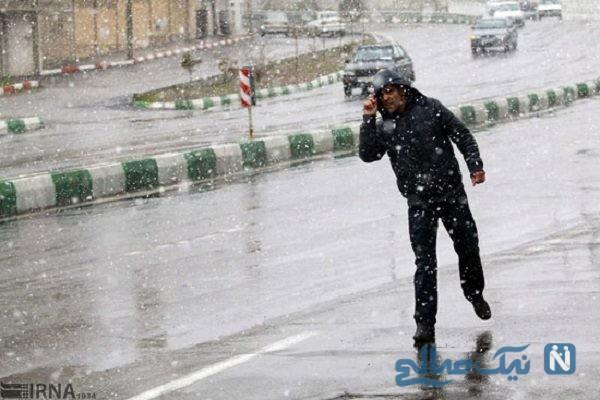 بارش برف و سرما