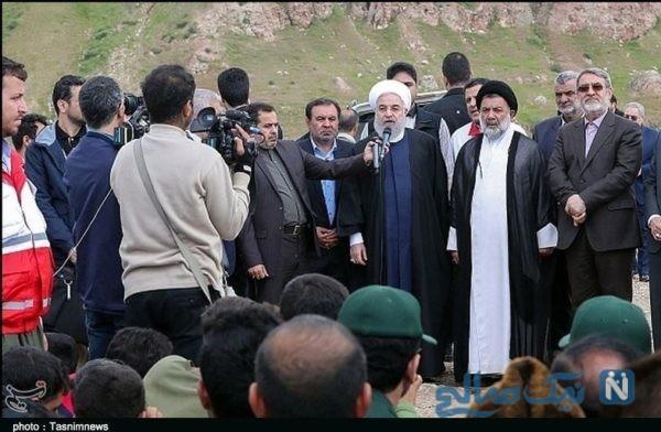 بازدید روحانی از مناطق سیل زده