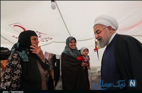 حاشیه های بازدید روحانی از مناطق سیل زده پلدختر + تصاویر