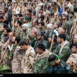 تجمع گروه های جهادی در پلدختر برای حمایت از سپاه