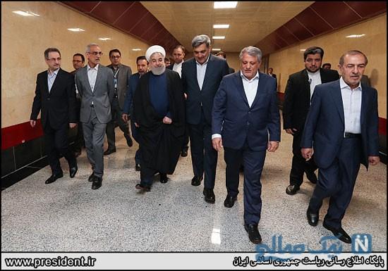 افتتاح خط شش مترو تهران با حضور روحانی