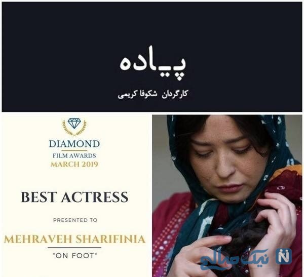 جایزه گرفتن مهراوه شریفی نیا
