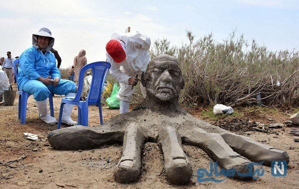 تصاویری از جشنواره مجسمه های نمکی نهبندان