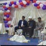 تصاویری از جشن ازدواج دو زوج جوان و سیل زده خوزستانی