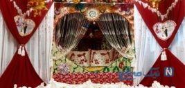 تزیین حجله عروس و داماد به سبک سنتی در بندر لنگه