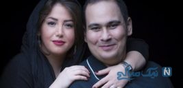 عکس یادگاری رضا داوود نژاد و همسرش در اکرام مصائب شیرین ۲