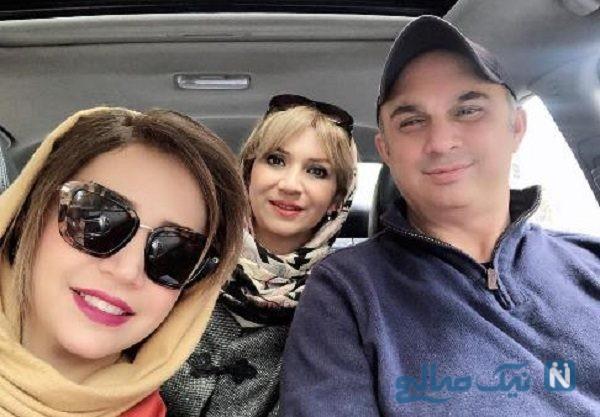 شبنم قلی خانی با خواهر و برادرش