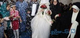 عروسی زوج جوان سیل زده خوزستان در اردوگاه اسکان موقت