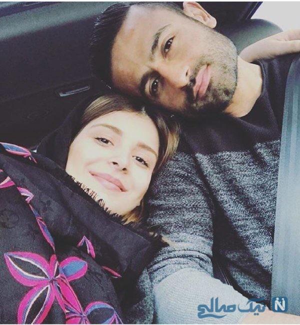 عکس امید ابراهیمی در کنار همسرش