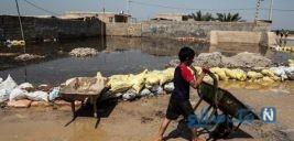 پاکسازی مناطق سیل زده شهرستان حمیدیه