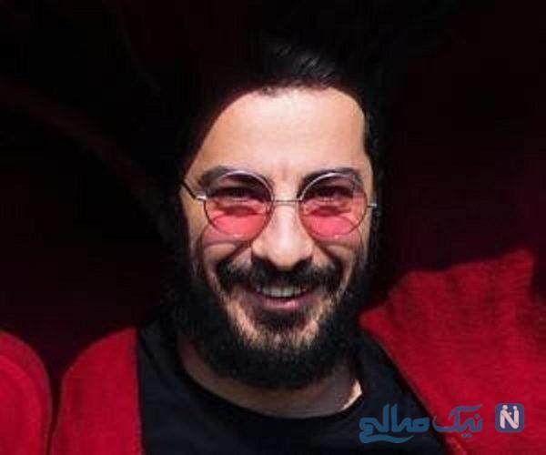 بهمن فرمان آرا و نوید محمدزاده در آغوش یکدیگر