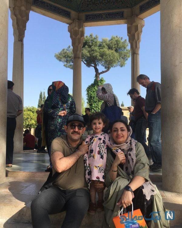 هدایت هاشمی و همسر و فرزندش