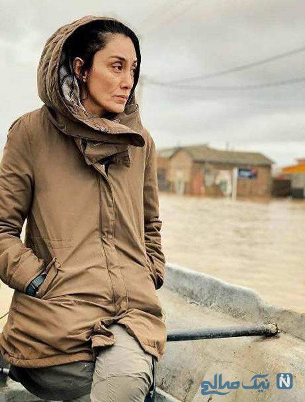 هدیه تهرانی در مناطق سیل زده