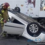 واژگونی خودروی تیبا در فرمانیه رسانه ای شد!