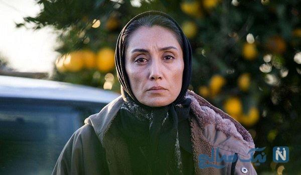 هدیه تهرانی روی پوستر بین المللی فیلم روزهای نارنجی