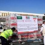 کمک هلال احمر امارات به سیل زدگان ایران