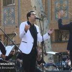 کنسرت محمد معتمدی با حضور ظریف و حناچی در میدان مشق