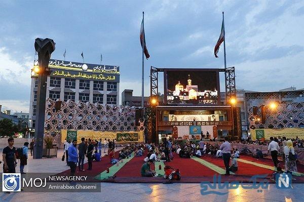مراسم افطاری در میدان امام حسین تهران + تصاویر