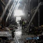تصاویری از بازار تبریز بعد از آتش سوزی مهیب