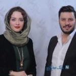 عکس یادگاری بهنوش طباطبایی و جواد عزتی در پشت صحنه یک فیلم