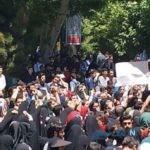 تصاویری از تجمع دانشجویان در دانشگاه تهران