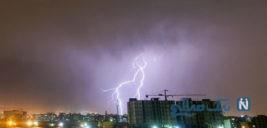 تصاویری زیبا از رعد و برق در آسمان تهران