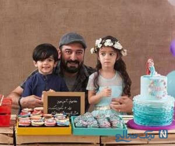 تبریک مجید صالحی در روز دوقلوها به فرزندانش