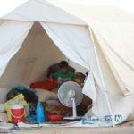 زندگی سخت مردم سیل زده خوزستان در زیر چادر + تصاویر